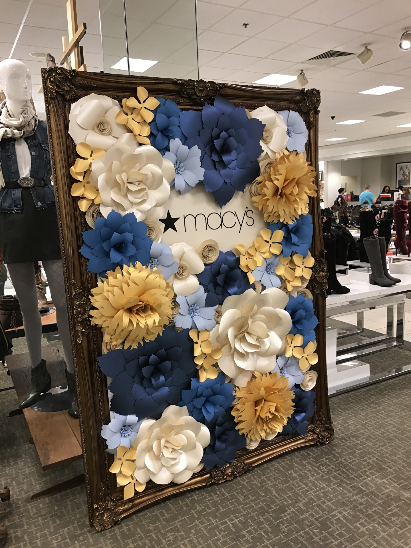 Corporate event, Macy's, fundraiser, event backdrop, wedding, quinceanera, bridal shower, Houston Paper Flowers, Houston Paper flower rental, Paper flower wall rental,