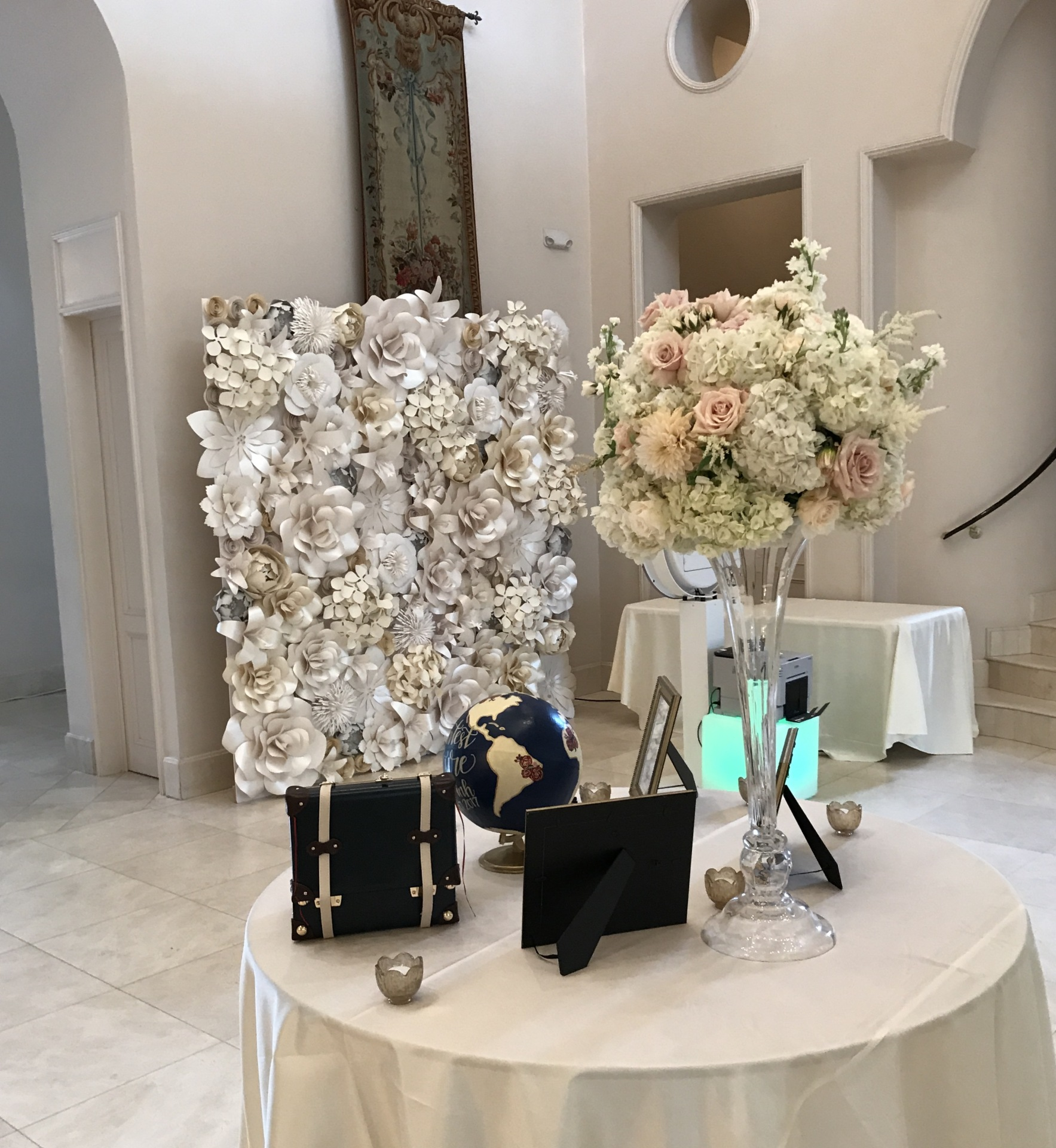 Photo booth backdrop, backdrop, wedding, Paper flower wall, Houston Paper Flowers, Houston Paper flower wall rental,