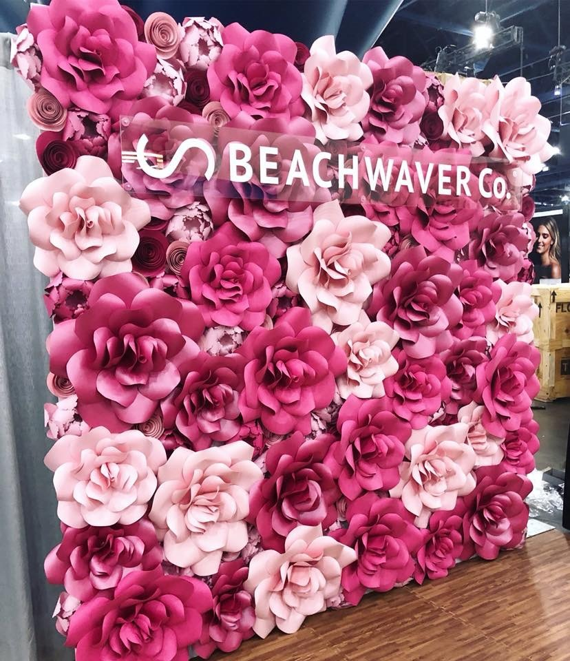 Welcome, entry decor, sign in table, selfie station, Wedding ceremony backdrop, altar, Houston Paper Flowers, Paper Flower wall rental, corporate event